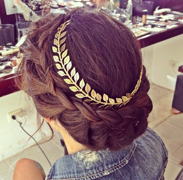 hair accessory gold crown jewels hairstyles