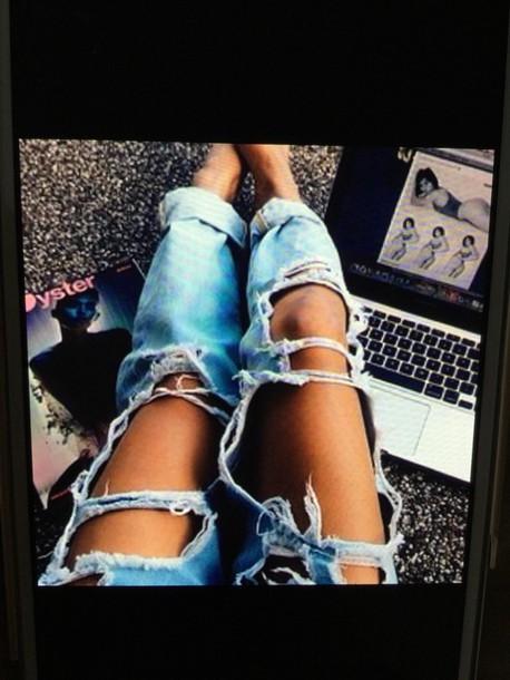 jeans blue rippen jeans