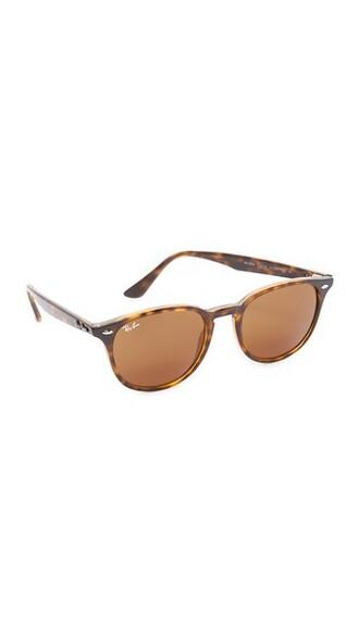 shiny sunglasses round sunglasses brown