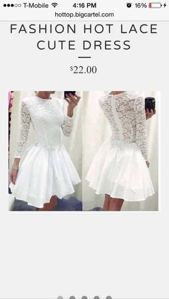 dress white dress skater dress cute dress lace dress