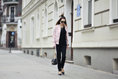 shiny sil,blogger,jacket,blouse,top,shoes,pants,bag,jewels