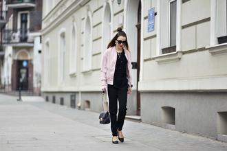 shiny sil blogger jacket blouse top shoes pants bag jewels