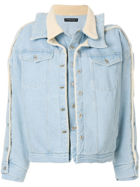 Y / Project coat style women cotton blue