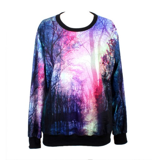 Space Star Galaxy Loose Purple Sweatshirt on Luulla