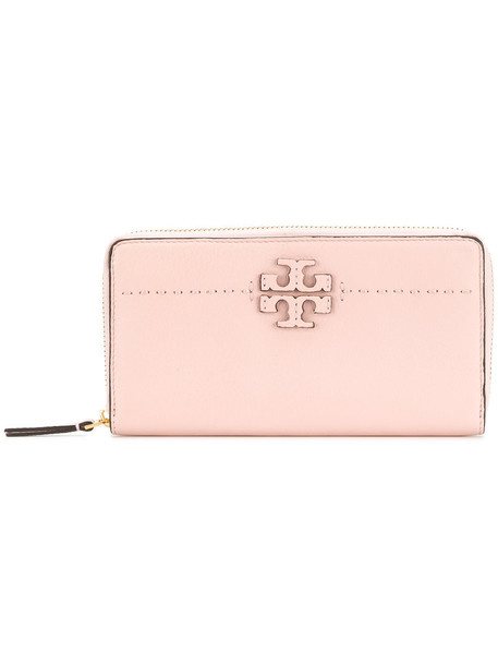 Tory Burch women purse leather purple pink bag