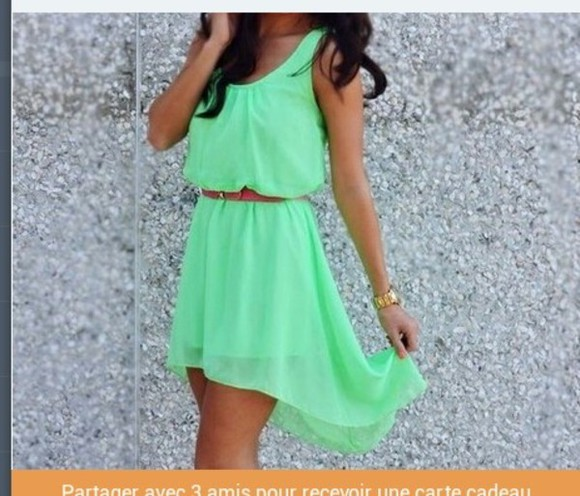 dress mint summer robe verte green dress