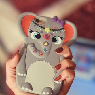 phone cover elephant indie cute accessories hippie purple floral