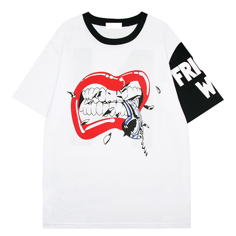 Big Mouth Print Short-sleeved T-shirt