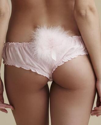 underwear bikini bikini bottoms sexy clothes cute pastel rose