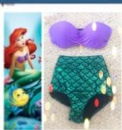 swimwear,the little mermaid,disney,mermaid,sunmer,summer,cute