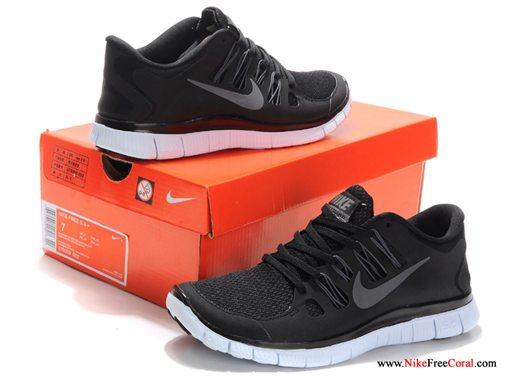 Nike free 5.0 sneakers womens black gray