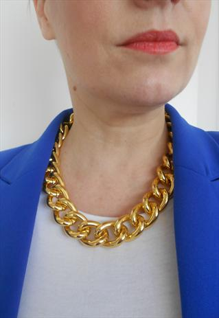 Chunky Gold Chain Necklace   Olivia Divine   ASOS Marketplace