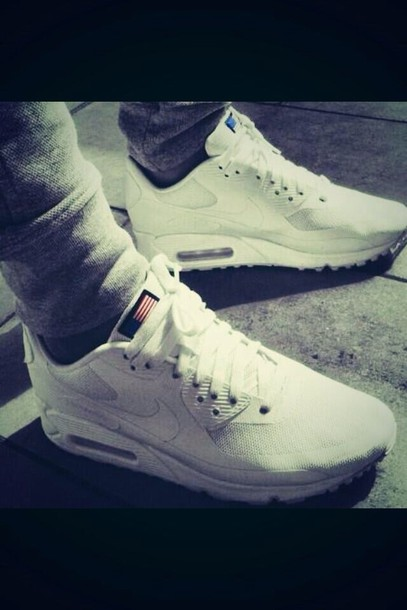 shoes, nike air max 90 hyperfuse white