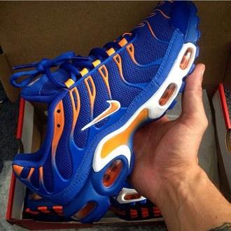 shoes blue orange nike trainers nike trainers tick
