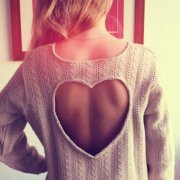 OPEN HEART BACK SWEATER on The Hunt
