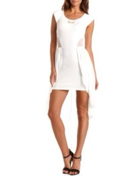 dress white short party dress