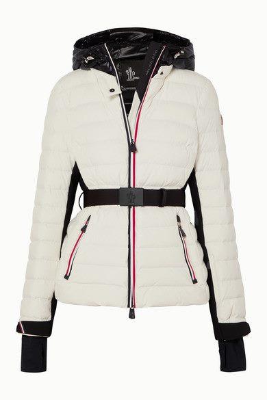 Moncler Grenoble - Bruche Belted Two-tone Quilted Ski Jacket - White - Bruche Belted Two-tone Quilted Ski Jacket
