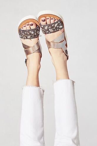 shoes jeweled sandals embellished sandals silver sandals silver low heel sandals sandals flat sandals