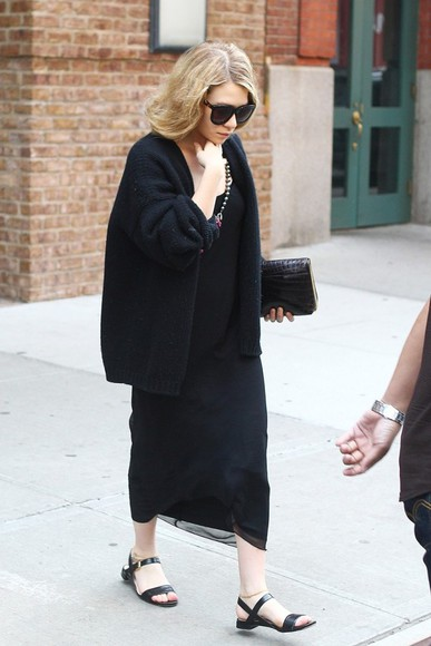 ashley olsen olsen olsens cardigan black sweater