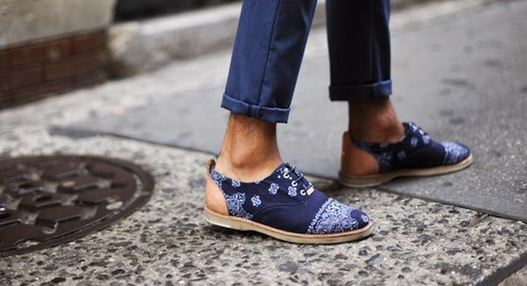 mens shoes 74 bandana print blue