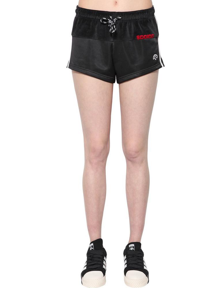 ADIDAS ORIGINALS BY ALEXANDER WANG Velvet & Tech Shorts in black