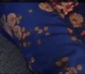 pants,blue,forever 21,floral,print