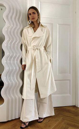 coat flare pants wide-leg pants pernille teisbaek instagram blogger