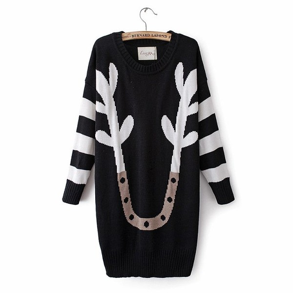shirt sweater long women fashion style