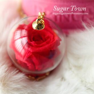 jewels rose necklace lolita