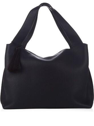 bag shoulder bag leather navy