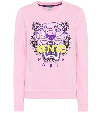 sweatshirt tiger cotton pink sweater