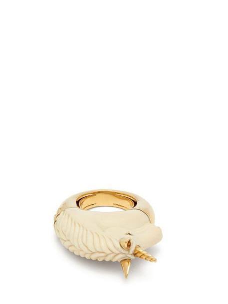 Bibi Van Der Velden - Unicorn Sapphire & 18kt Gold Ring - Womens - White