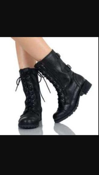 shoes combat boots black