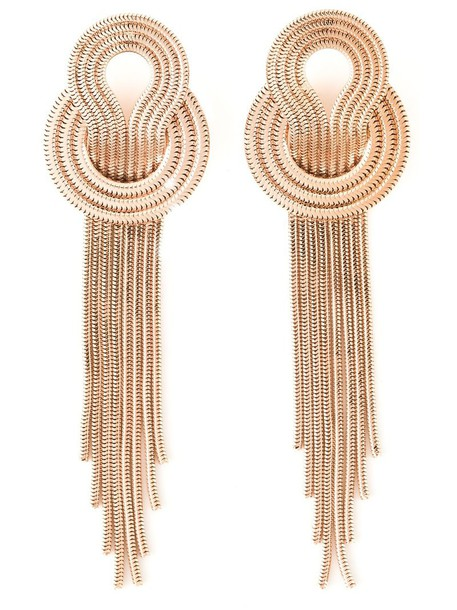 Lara Bohinc rose gold rose women earrings gold silver grey metallic jewels