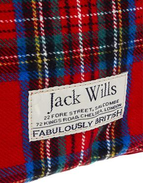 Jack Wills | Jack Wills Red Check Hot Water Bottle at ASOS