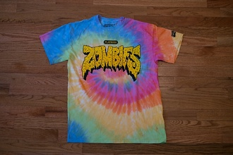 shirt tie dye shirt zombies flatbush zombies kanye west t-shirt