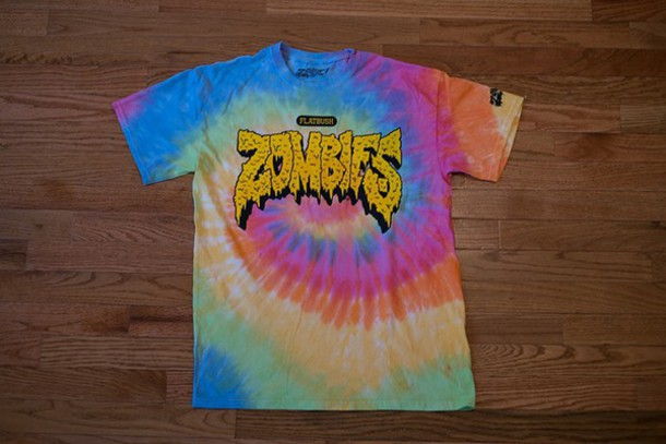 Shirt Tie Dye Shirt Zombie Flatbush Zombies Kanye West