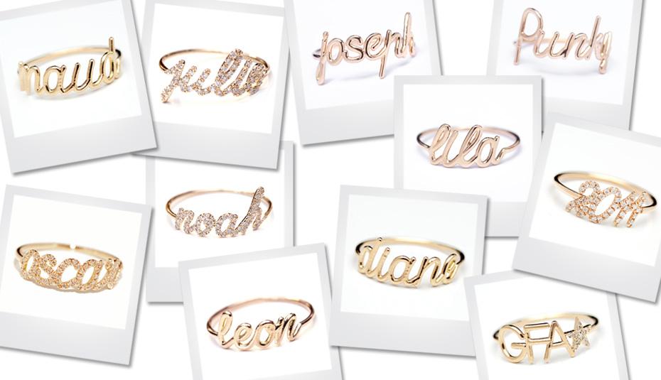 Bijoux personnalisés en or