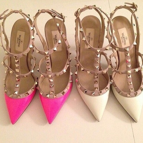 shoes studded shoes studds pumps high heels brown high heels