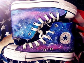 shoes converse galaxy shoes