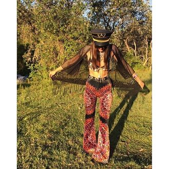 pants liberated heart bells bell bottoms flare 70s style mandala trippy festival