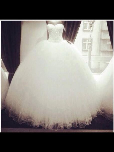 dress wedding princess sweetheart mariage robe blanche