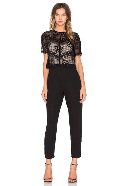 Greylin jumpsuit lace black