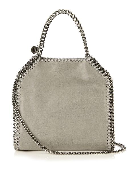 Stella McCartney cross mini bag suede light grey