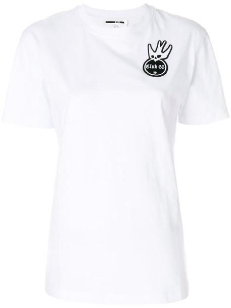 McQ Alexander McQueen t-shirt shirt t-shirt embroidered women white cotton top