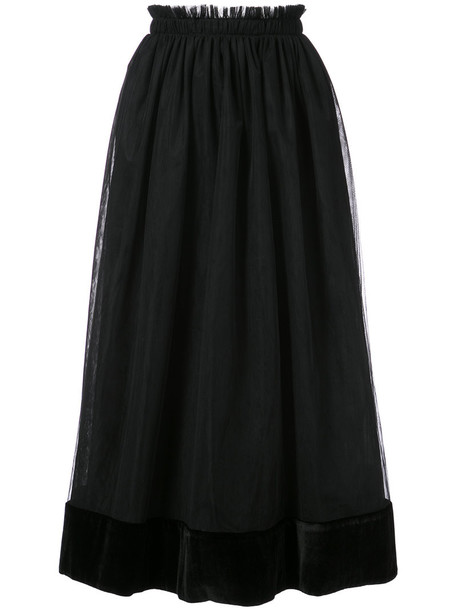 Cinq a Sept skirt midi skirt women midi black silk