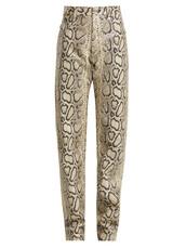 python,leather,print,pants