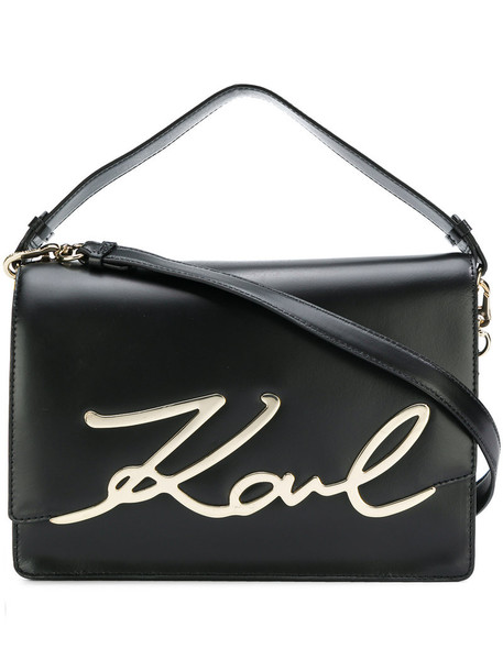 karl lagerfeld women bag shoulder bag leather black