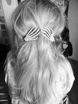 hair accessory hair clips skeleton hair accessory cute accessories