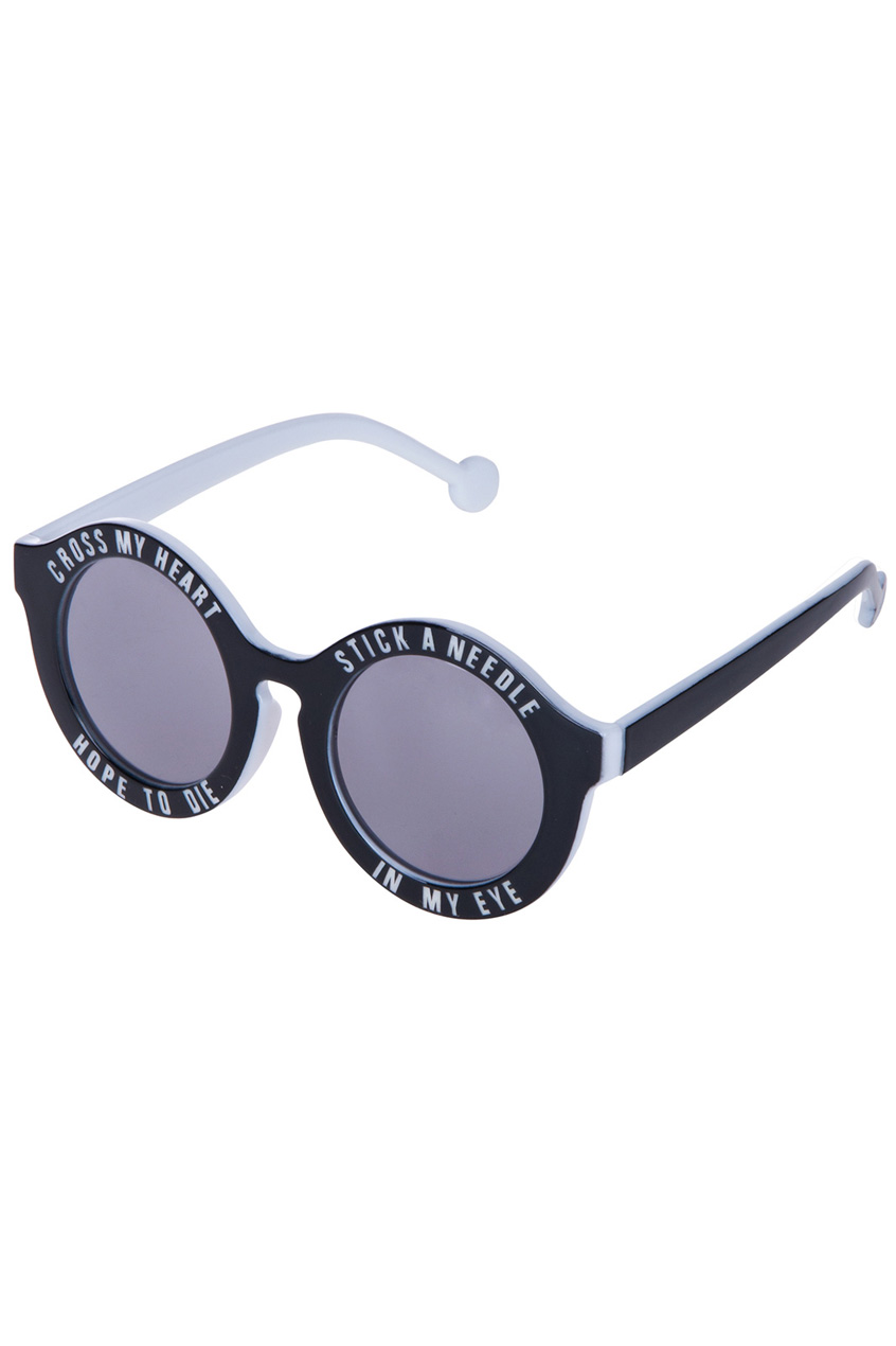 ROMWE | Dual-tone letters Sunglasses, The Latest Street Fashion